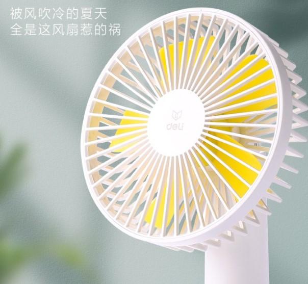 usb小风扇可充电手持随身携带 小型办公桌电风扇 充电款台夹两用-3档-6寸-白色
