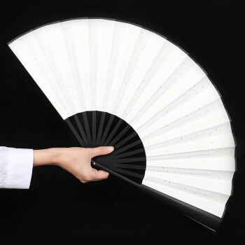 定制古风扇子中国风书法免费题字 10寸定制绢布