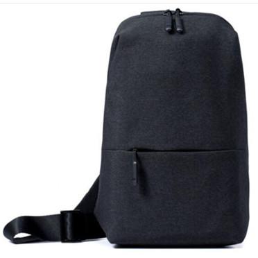 小米(MI)胸包多功能斜跨包时尚休闲腰包旅游平板电脑男女单肩包 小米胸包-深灰色